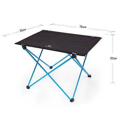 Portable Foldable Folding DIY Table Chair Desk Camping BBQ Hiking Traveling Outdoor Picnic 7075 Aluminium Alloy Ultra-light M L - PanasiaMarine.Com