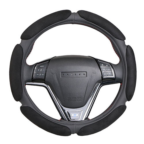 Non-slip Steering-Wheel Cover with 3D Design/Flocking clothcar steering wheel braid diameter 38CM For 95% Car - PanasiaMarine.Com