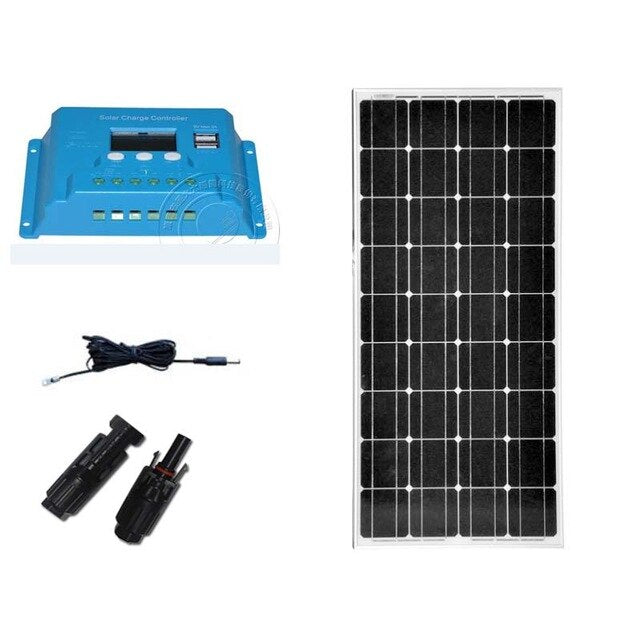 Zonnepaneel 12 Volt  100 Watt Solar Charge Controller 12V/24V 10A  Solar Battery Charger Motorhome Yacht Boat Marine RV - PanasiaMarine.Com