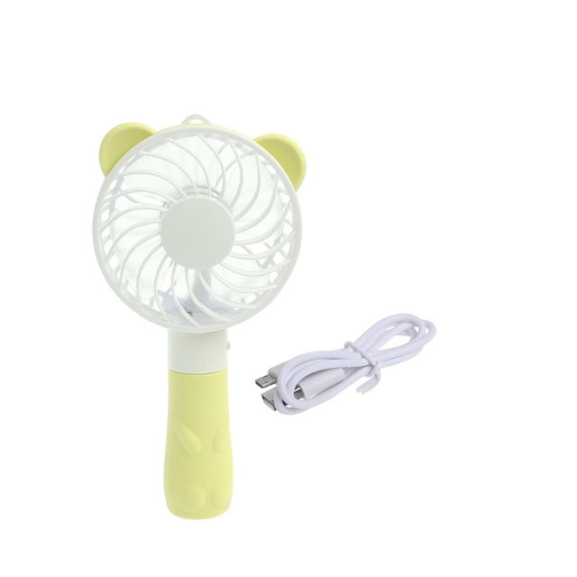 Portable Hand Fan Battery Operated USB Power Handheld Mini Fan Cooler with Strap - PanasiaMarine.Com