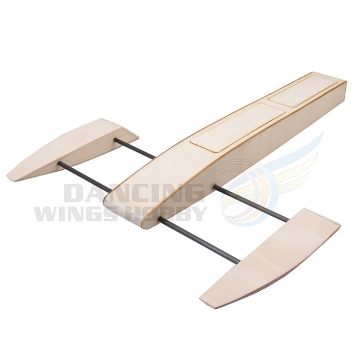 RC Speed Boat 495mm Wooden Sponson Outrigger Shrimp Racing Boat Model Building Kits Radio Remote Control Speedboat - PanasiaMarine.Com
