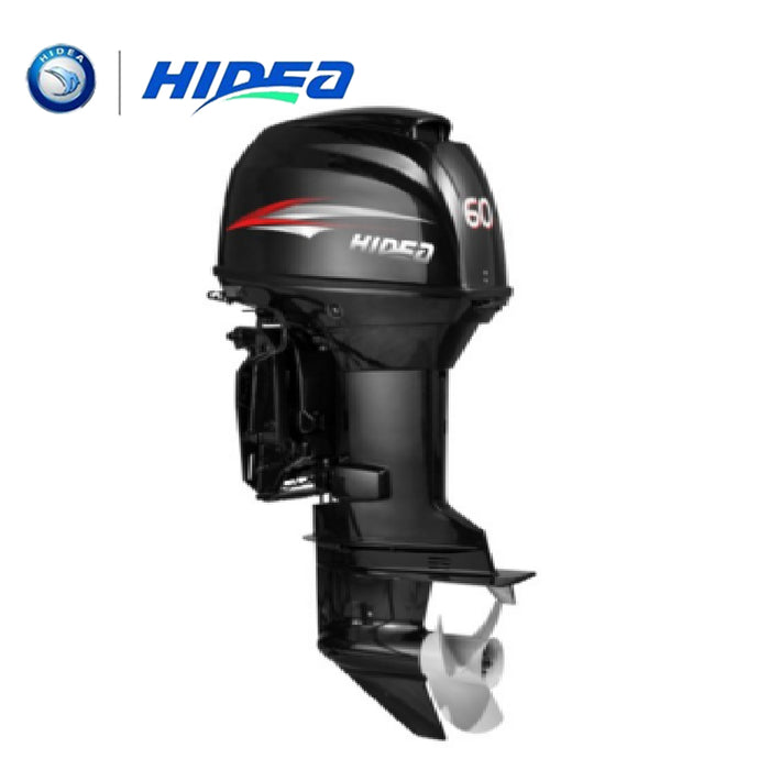 HIDEA Hot Selling Water Cooled 2-stroke 60 HP Marine Engine Outboard Motor For Boats  long shaft - PanasiaMarine.Com