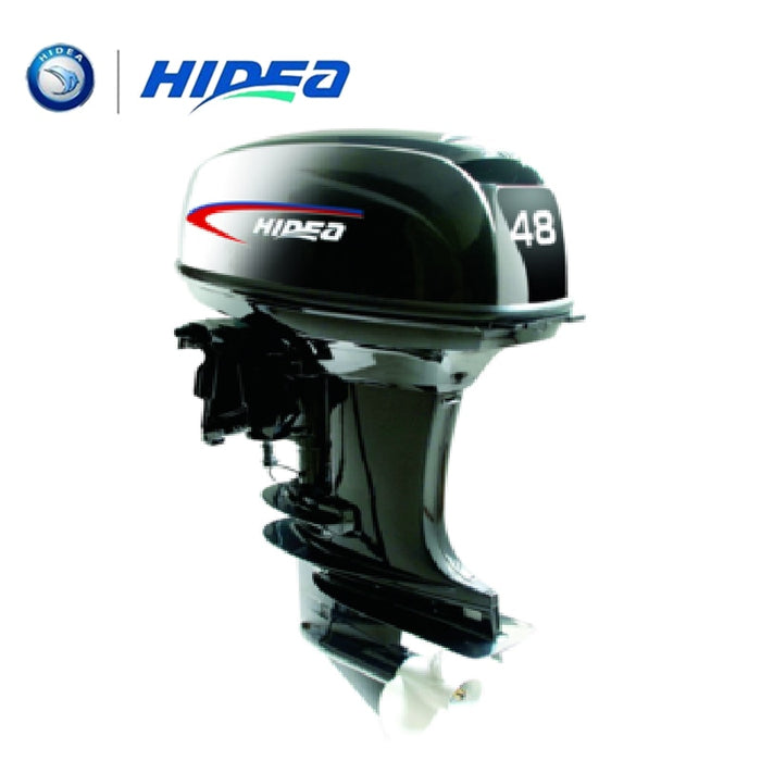HIDEA Hot Selling Water Cooled 2-stroke 48 HP Marine Engine Outboard Motor For Boats  long shaft - PanasiaMarine.Com