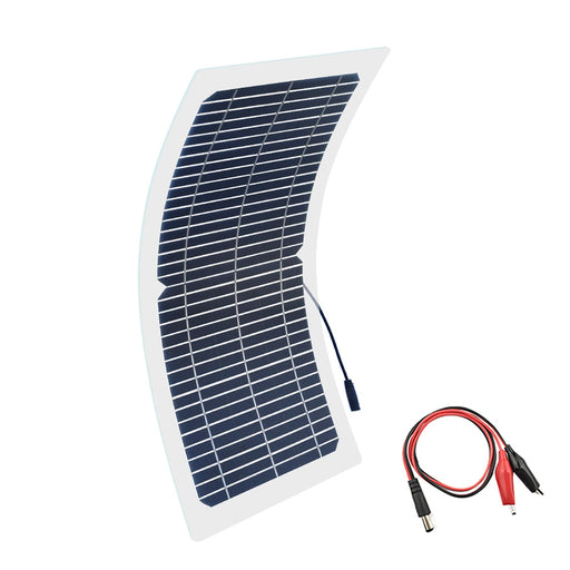 BOGUANG 18V 10w solar panel kit Transparent semi-flexible Monocrystalline solar cell DIY module outdoor connector DC 12v charger - PanasiaMarine.Com