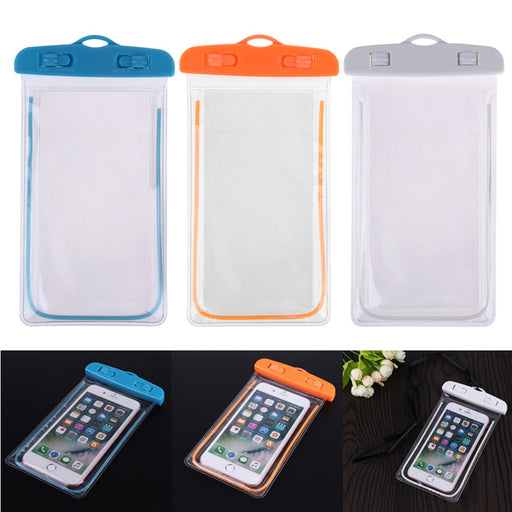 Waterproof Phone Pouch Swimming Bags With Luminous Underwater Pouch Phone Case Camping Skiing Dry Bag Universal Cover 3.5-6Inch - PanasiaMarine.Com