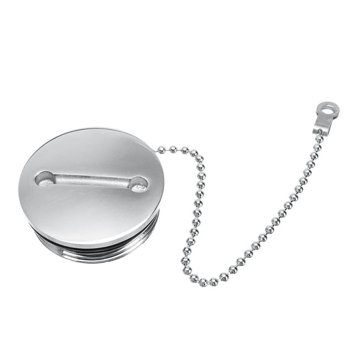NEW Boat Deck Fill Oil Filler Replacement Cap with Chain Stainless Steel Mirror Polished Marine Hardware Silver Replacement Cap - PanasiaMarine.Com