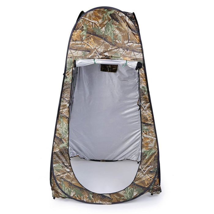 Outdoor Pop Up Camouflage Tent 180T Camping Shower Bathroom Privacy Toilet Changing Room Shelter Single Moving Folding Tents - PanasiaMarine.Com