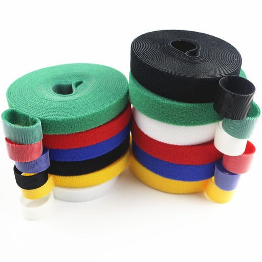 Hot 3Meters Reusable Adhesive Fastener Tape Back to Back Strong Hooks and Loops Fasteners Cable Ties Curtain Fastener Magic Tape - PanasiaMarine.Com