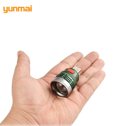 yunmai 2019 Mini Usb LED Flashlight NEW Q5 Aluminum Work Light 2000LM Waterproof Lanterna 3 Modes Portable LED Torch Lamp - PanasiaMarine.Com