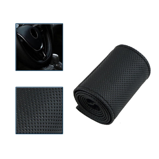 New Car Steering Wheel Cover Braid on Steering Wheel Microfiber Skid-Proof Cover All Single Connector 36-38 cm-Car styling - PanasiaMarine.Com