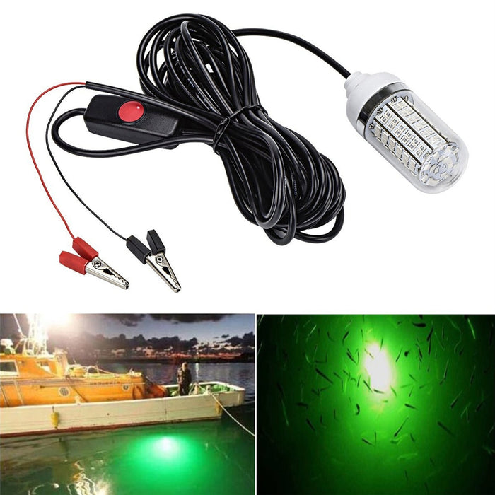 12V Fishing Light 108pcs 2835 LED Underwater Fishing Light Lures Fish Finder Lamp Attracts Prawns Squid Krill (4 Colors ) - PanasiaMarine.Com