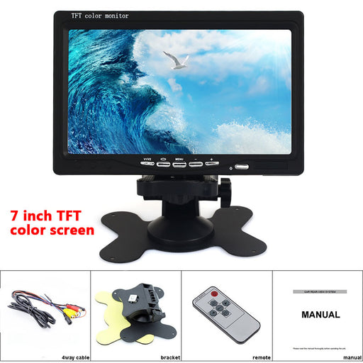 Cewaal 7 inch Mini TV HD 1024 * 600 TFT LCD Digital and Analog Small TV With HDMI / VGA/AV In & Out portable - PanasiaMarine.Com