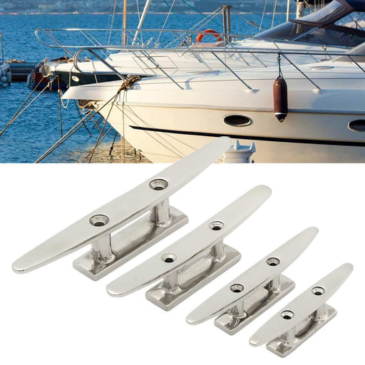 Low Flat Cleat Stainless Steel Hole Hardware For Marine Boat - PanasiaMarine.Com