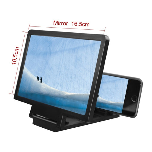 Simple, Generous Cell Phone Screen Magnifier 3D HD Movie Video Amplifier With Foldable Holder Stand - PanasiaMarine.Com