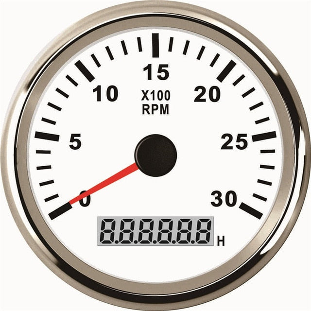85mm  Tachometer 3000RPM With Hourmeter Truck Car Boat Diesel Engine Tacho Meter RPM Gauge REV Counter With Backlight  M16 M18 - PanasiaMarine.Com