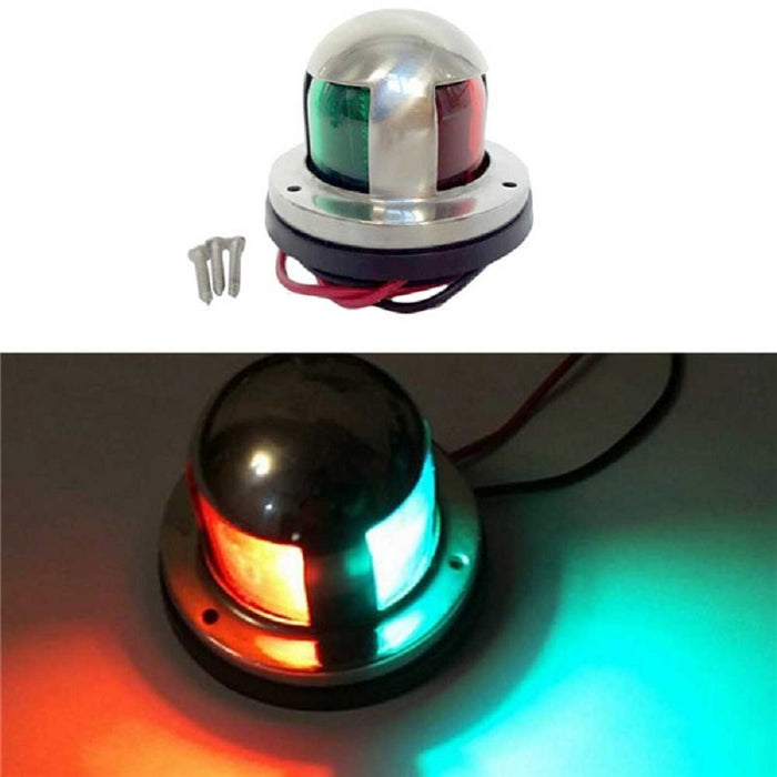 Ansblue 12V Stainless Steel Marine boat Yacht LED Navigation light Red and Green Bow Lights Deck Mount - PanasiaMarine.Com
