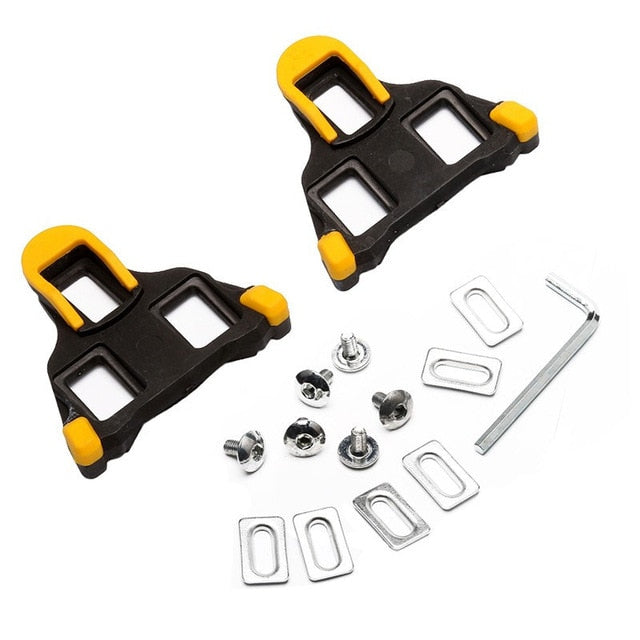 One set 2 x Bicycle Bike Self-locking Pedal Cleats Set Yellow For Shimano SM-SH11 SPD-SL for road Mountain Bike accessories - PanasiaMarine.Com