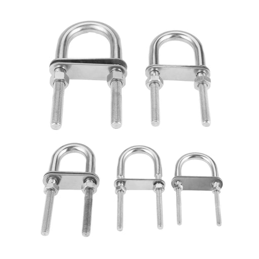 1Pc M5 M6 M8 M10 M12 Stainless Steel 304 Marine Rigging Bow/Stern Eye U-Bolt for Boat Hardware Boat Parts Silver - PanasiaMarine.Com