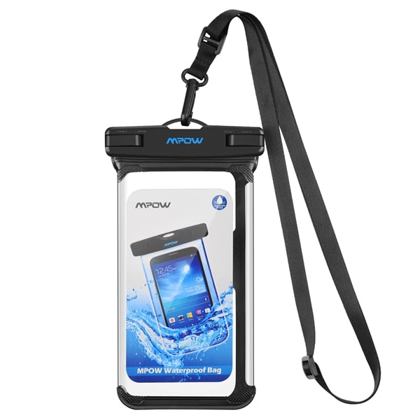 Mpow IPX8 Waterproof Phone Pouch Underwater Swimming Bags Phone Case PVC Crystal Clear Key Bag For iPhone for Samsung for Huawei - PanasiaMarine.Com