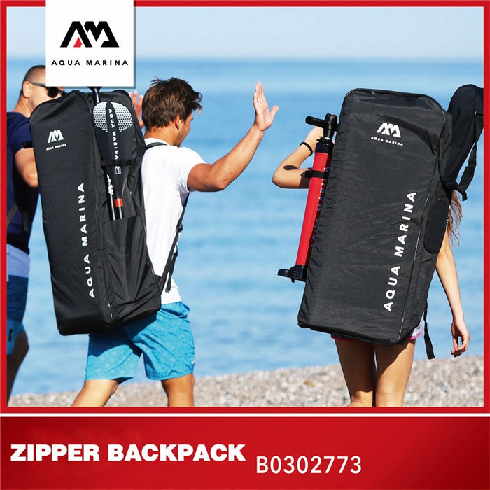 AQUA MARINA New Upgrade ISUP Surfboard Backpack Inflatable Surfing Board Bag Stand Up Paddleboard Zipper Bag For SurfAccessories - PanasiaMarine.Com