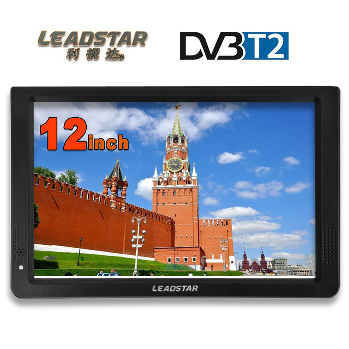 LEADSTAR HD Portable TV 12 Inch Digital And Analog Led Televisions Support TF Card USB Audio Video Player Car Television DVB-T2 - PanasiaMarine.Com