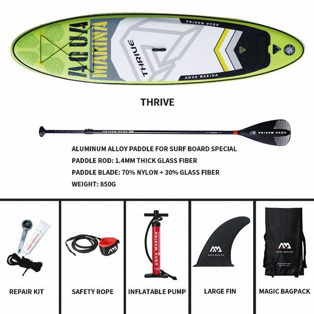 AQUA MARINA THRIVE SUP Surfboard Inflatable Surfboard SUP Paddleboard Stand Up Surf Board  315*79*15cm Inflatable Paddle Board - PanasiaMarine.Com