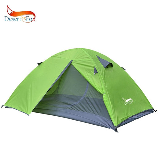 Desert&Fox Backpacking Tent, 2 Person Aluminum Pole Lightweight Camping Tent,Double Layer Portable Handbag for Hiking,Travelling - PanasiaMarine.Com