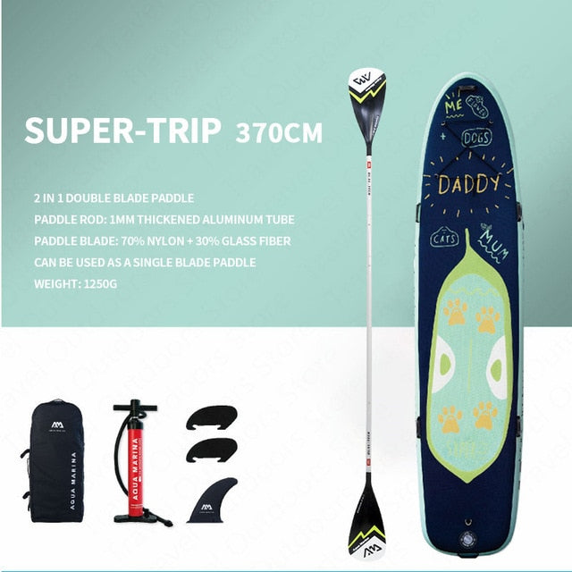 AQUA MARINA SUPER-TRIP SUP Surf Board Stand Up Paddle Board Inflatable Surfboard 370*87*15CM Family Paddleboards For Surfing - PanasiaMarine.Com