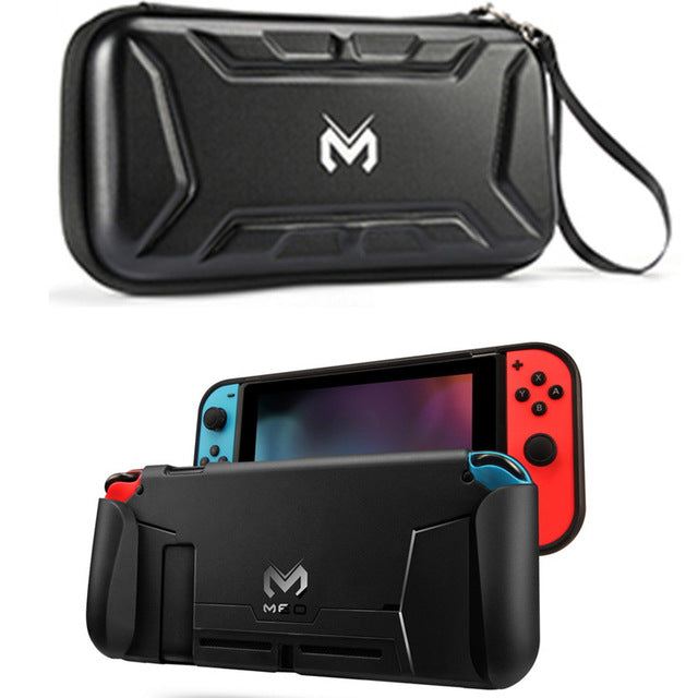 Nintend Switch Accessories Protective Case Guard Cover TPU Shell Docking Handle Grips w/ Card Slot For Nintendos Nintendoswitch - PanasiaMarine.Com