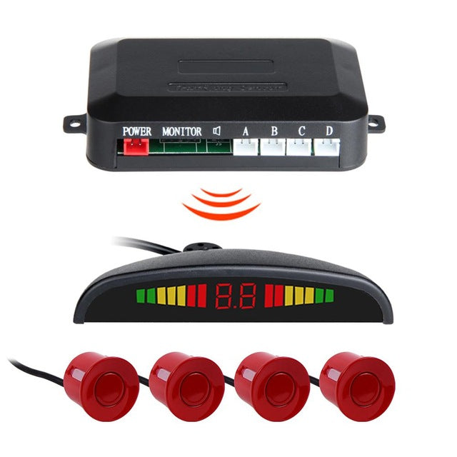 12V Auto Parktronic LED Parking Sensor With 4 Sensors Reverse Backup Car Parking Radar Monitor Detector System Backlight Display - PanasiaMarine.Com