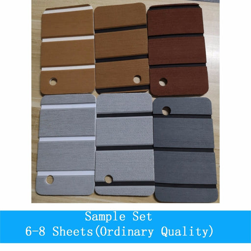 Sample Set Teak Decking For Boat Yacht EVA Marine Flooring Carpet With Adhesive Gule 6-8 PCS Grey Brown Black Boat Accessories - PanasiaMarine.Com