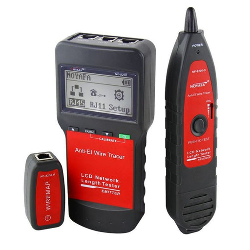 NF-8200 LAN RJ45 Wire Cable Tester Ethernet Network Wire Tracker Cable Length Tester With Backlight LCD Display 2019 Dropship - PanasiaMarine.Com