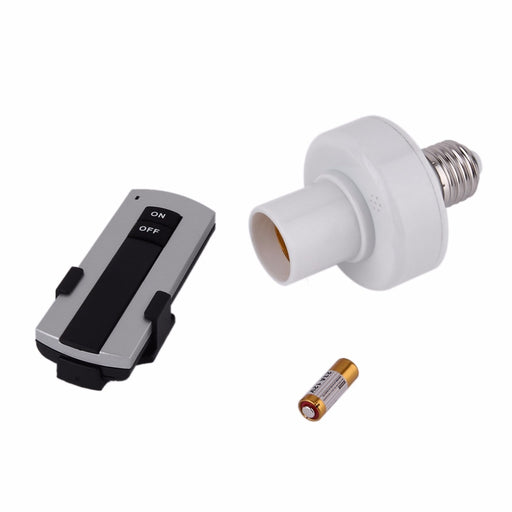 Professional E27 Screw Wireless Remote Control Light Lamp Bulb Holder Bases Cap Socket Switch Lamp Accessories On Off 220V - PanasiaMarine.Com