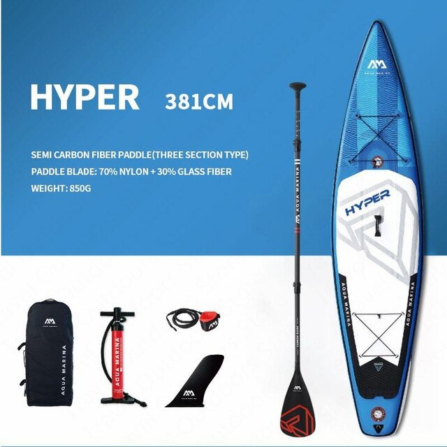 AQUA MARINA HYPER Fashion Surfboard Sup Surfing Board Inflatable Surfboard 381*81*15cm Stand Up Paddle Board Paddleboard - PanasiaMarine.Com