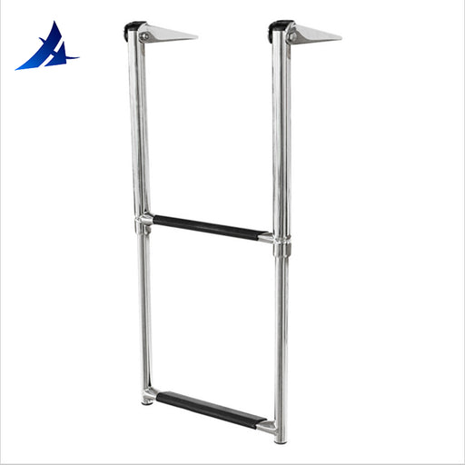 boat accessories marine Marine Stainless Steel Telescoping 2 Step Ladder Upper Swim Platform Boat Yacht - PanasiaMarine.Com