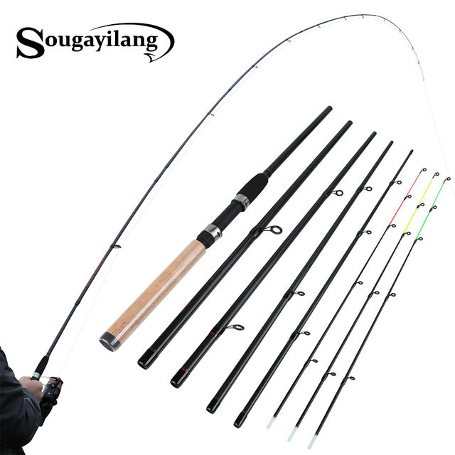 Sougayilang Fishing Rod 99% Carbon Feeder Rod Fuji O-ring 300cm Length 6 Sections Lure Fishing Stick Fishing Tackle De Pesca - PanasiaMarine.Com