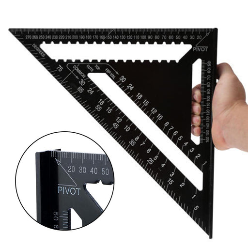 12inch Triangle Ruler for Woodworking Square Layout Gauge Measuring Tool Woodworking Gauges Protractors - PanasiaMarine.Com
