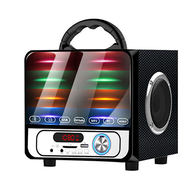Portable Loudspeaker Outdoor Subwoofer Wireless Bluetooth Speaker Mini Home Radio TF AUX USB Colorful Lights Hifi Speakers A18 - PanasiaMarine.Com