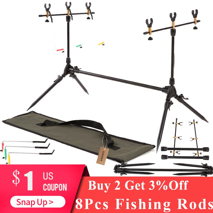 Lixada Fishing Rods Adjustable Retractable Carp Pod Stand Holder Fishing Pole Stand Tackle Accessory Bracket Carp for Pesca - PanasiaMarine.Com