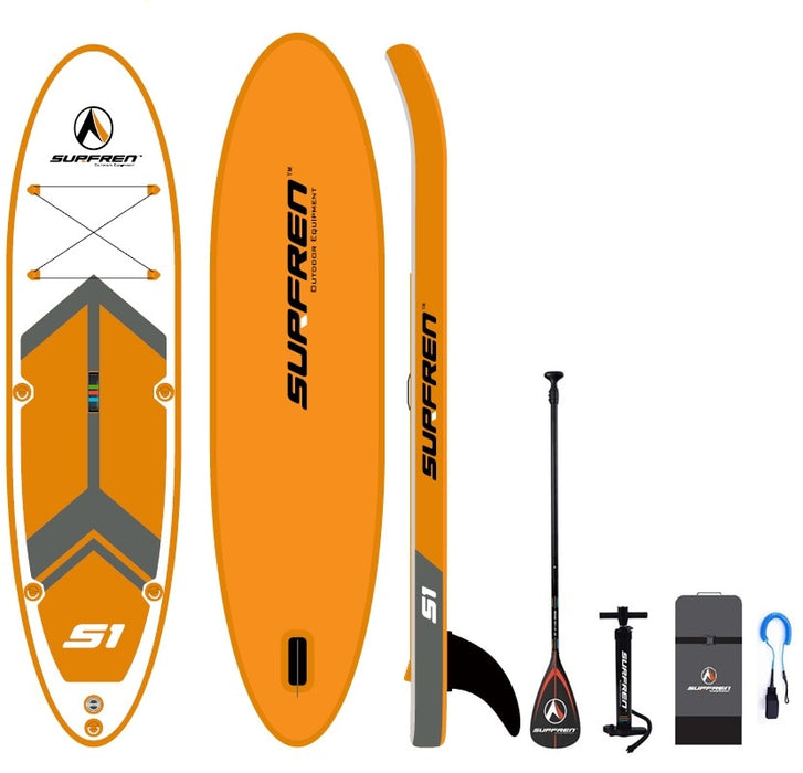 Inflatable Surf Stand Up Sup paddle board iSUP Surfing Paddleboard SURFREN S1 wakeboard bodyboard kayakboat size300*76**13cm - PanasiaMarine.Com