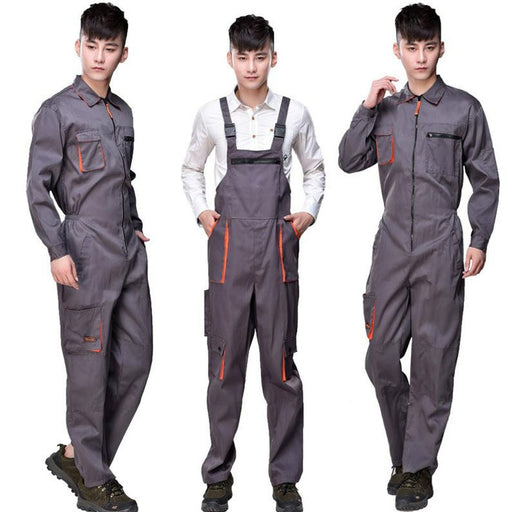 Strap Work Pant Multi-pocket Tool Work Safety Clothing Suits Auto Repair Labor Insurance Repairman Sleeveless Coveralls DYF001 - PanasiaMarine.Com