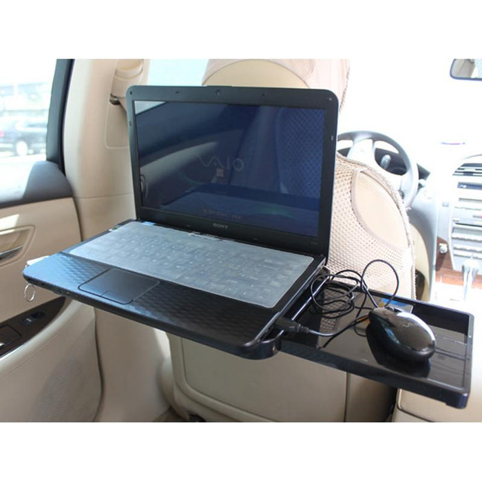 1pc Car Drawer Type Computer Desk With Mouse Disk Computer Frame Car Table Stand Holder Auto Beverage Storage Box - PanasiaMarine.Com
