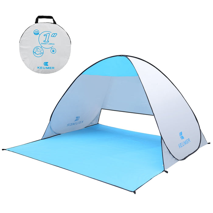 KEUMER 1-2 person Outdoor Beach Tent Pop-up Open Camping Fishing Tent Portable Waterproof UV-protective Tent Shelter - PanasiaMarine.Com