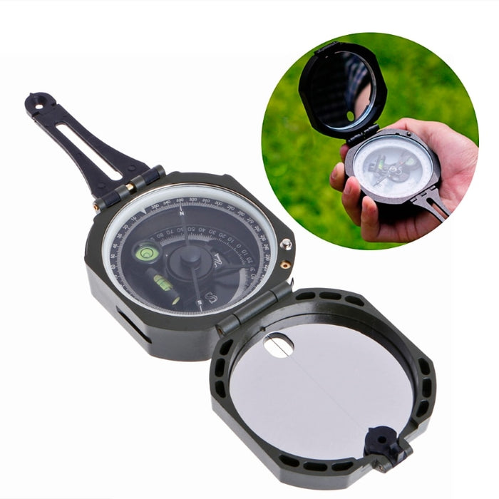 Handheld Type High Precision Magnetic Pocket Transit Geological Compass Scale 0-360 Degrees Outdoor Direction Setting Tool - PanasiaMarine.Com