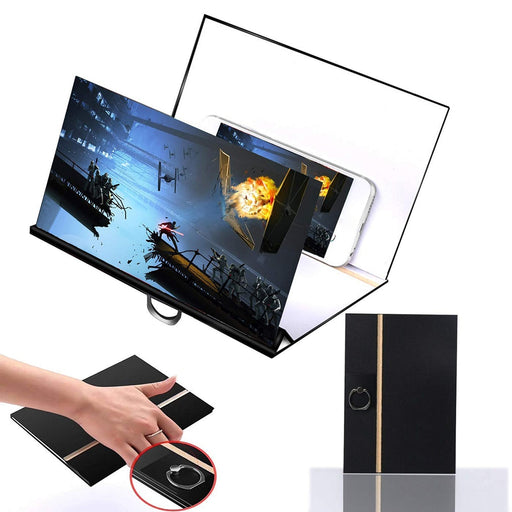 8 inch Wood Phone Screen Magnifier Cell Phone 3D HD Movie Video Amplifier Foldable Holder Stand Bracket - PanasiaMarine.Com