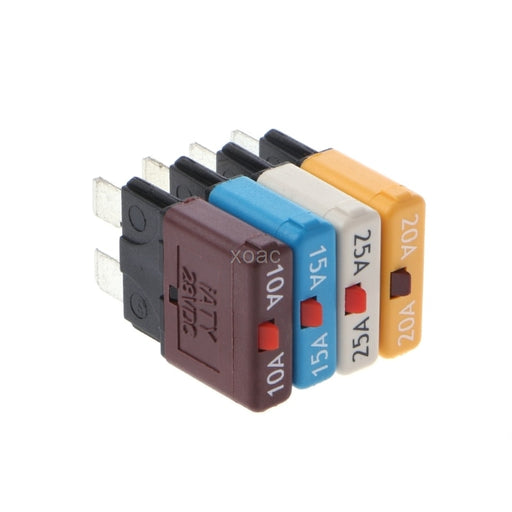 Circuit Breaker Blade Fuse 28V Resettable 10-25A Marine Rally Automotive   M13 dropship - PanasiaMarine.Com