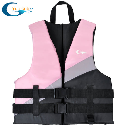 Adult Life Vest Thicken High Buoyancy Life Jacket Water Sports Equipment For Rafting Swimming Sailing Boating Blue & Pink YL1233 - PanasiaMarine.Com