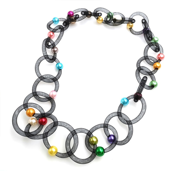 YD&YDBZ New Lace Pipe Pendant Necklace Women Multicolor Pearl Necklaces Long Choker Two Bohemia Jewelry Fashion Trendy Jewellery - PanasiaMarine.Com