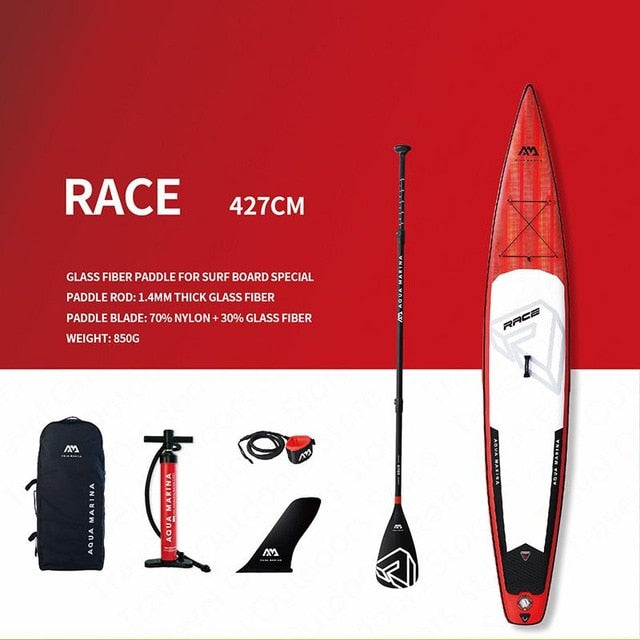 AQUA MARINA RACE SUP Inflatable Surf Board Sup Board Paddleboard Bodyboad Stand Up Paddle Boards Surfingboard 427*69*15cm - PanasiaMarine.Com