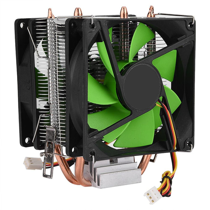 90mm 3Pin CPU Cooler Heatsink Quiet fans for Intel LGA775/1156/1155 for AMD AM2/AM2+/AM3 Dual-sided Fan Free Shipping cpu fan - PanasiaMarine.Com